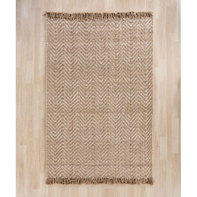 Dennisport Hand-Woven Bleach/Natural Area Rug Rug Size: Square 6