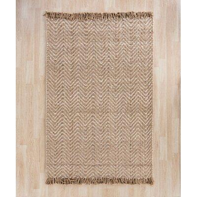 Dennisport Hand-Woven Bleach/Natural Area Rug Rug Size: 3 x 5