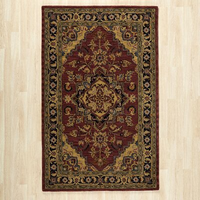 Etten Rust/Burgundy Area Rug Rug Size: Rectangle 5 x 8