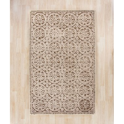 Sibanye Hand-Tufted Tan Area Rug Rug Size: Square 8