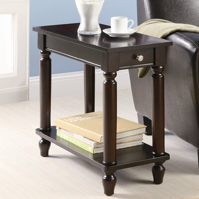 Louis Chairside End Table in Cappuccino