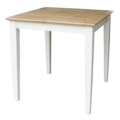 Frost Square Dining Table Finish: White / Natural, Size: 30