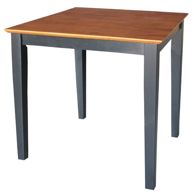 Frost Square Dining Table Finish: Black / Cherry, Size: 36