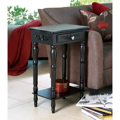 Isabella Carved End Table With Storage
