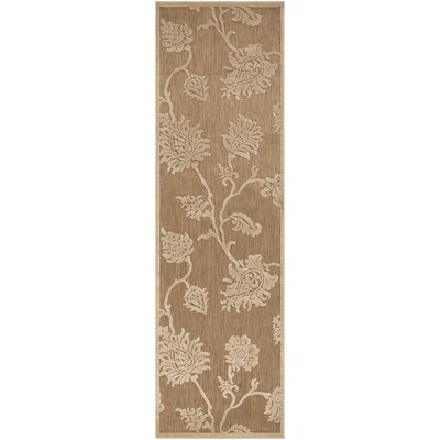 Gaither Khaki Outdoor Area Rug Rug Size: Runner 26 x 71