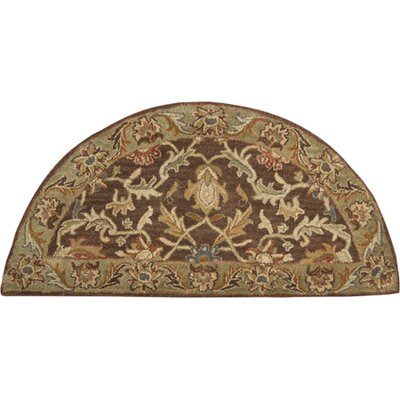 Waterston Floral Brown Area Rug Rug Size: Slice 2 x 4