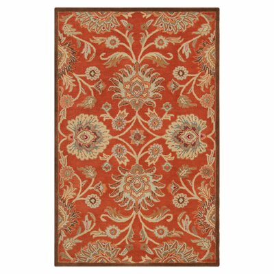 Mcloon Red Area Rug Rug Size: 5 x 8