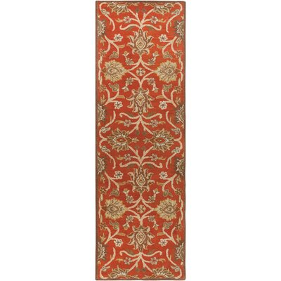 Mcloon Hand-Woven Wool Red Area Rug Rug Size: Runner 26 x 8