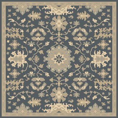 Willard Navy & Olive Area Rug Rug Size: Square 6