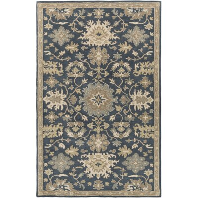 Willard Navy & Olive Area Rug Rug Size: Rectangle 76 x 96