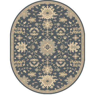 Willard Navy & Olive Area Rug Rug Size: Oval 8 x 10