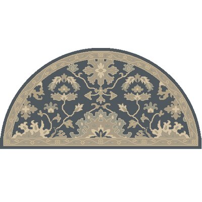Willard Navy & Olive Area Rug Rug Size: Wedge 2 x 4