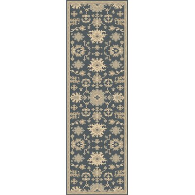 Willard Navy & Olive Area Rug Rug Size: Runner 26 x 8