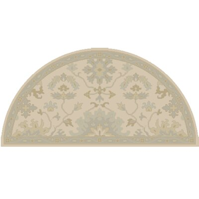 Willard Beige & Slate Area Rug Rug Size: Wedge 2 x 4