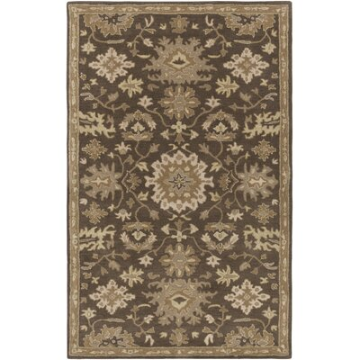 Willard Chocolate/Gray Area Rug Rug Size: Rectangle 4 x 6