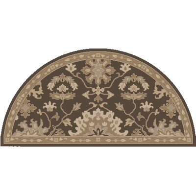 Willard Chocolate/Gray Area Rug Rug Size: Wedge 2 x 4
