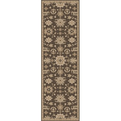 Willard Chocolate/Gray Area Rug Rug Size: Runner 26 x 8