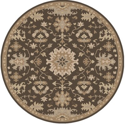 Willard Chocolate/Gray Area Rug Rug Size: Round 6