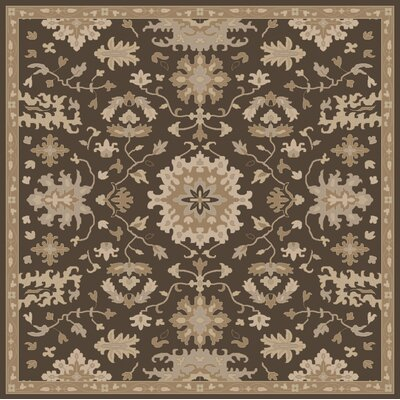 Willard Chocolate/Gray Area Rug Rug Size: Square 4
