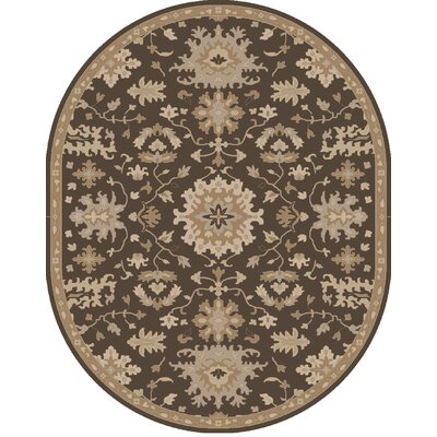 Willard Chocolate/Gray Area Rug Rug Size: Oval 8 x 10
