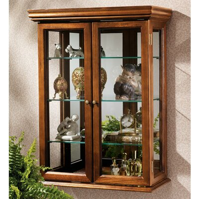Country Tuscan Wall-Mounted Curio Cabinet
