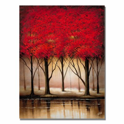 Serenade in Red Painting Print on Canvas