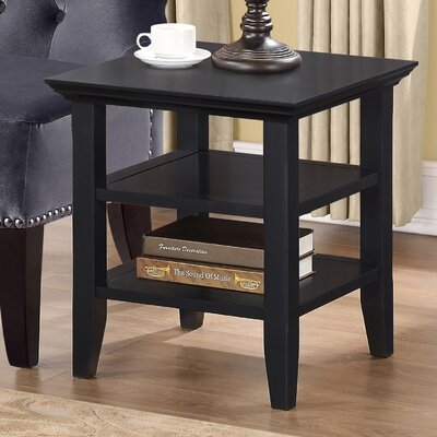 Horace End Side Table Finish: Black