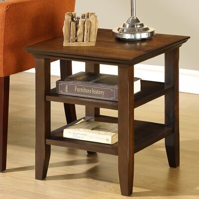 Horace End Side Table Finish: Tobacco Brown