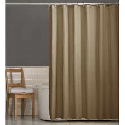 Rawles Microfiber Fabric Shower Curtain Color: Linen