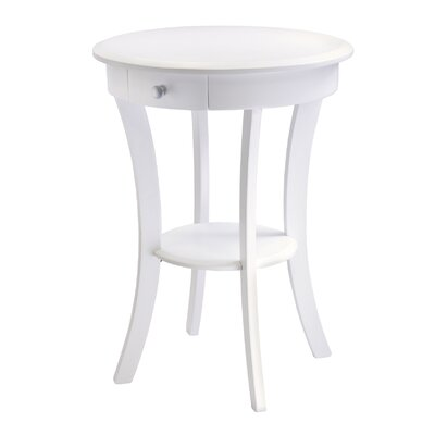 Emington Accent End Table Finish: True White