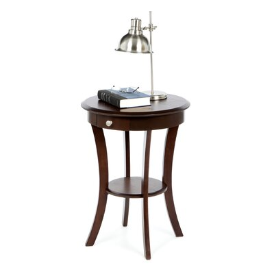 Emington Accent End Table Finish: Cappuccino