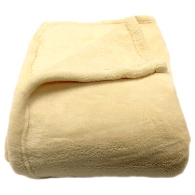 Philip Throw Blanket Color: Cream