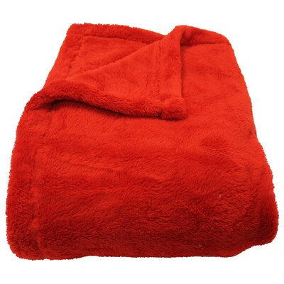 Philip Throw Blanket Color: Red