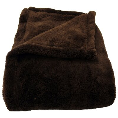 Philip Throw Blanket Color: Chocolate