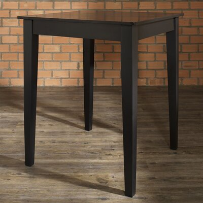 Delphi Tapered Leg Counter Height Pub Table Finish: Black