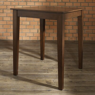 Delphi Tapered Leg Counter Height Pub Table Finish: Vintage Mahogany