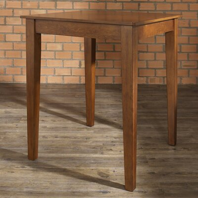 Delphi Tapered Leg Counter Height Pub Table Color: Classic Cherry