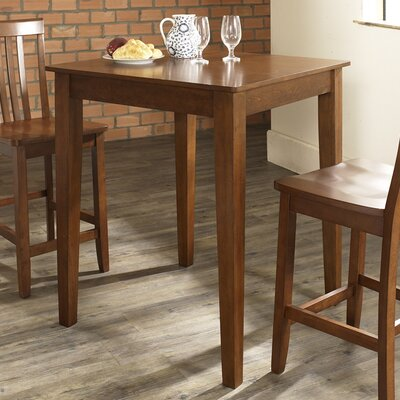 Pittman 3 Piece Pub Table Set with Tapered Leg Table and Barstools Color: Classic Cherry