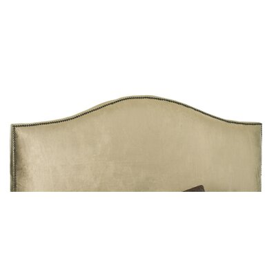 Rumford Upholstered Panel Headboard Size: Full, Color: Olive Green, Upholstery: Polyester