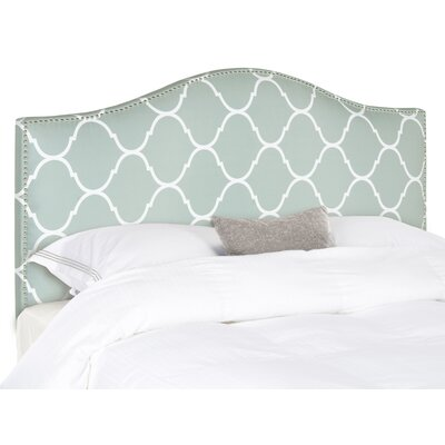 Rumford Upholstered Panel Headboard Patterned Size: Queen, Upholstery: Bluestone