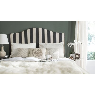 Rumford Upholstered Panel Headboard Striped Size: Full, Upholstery: Black & White
