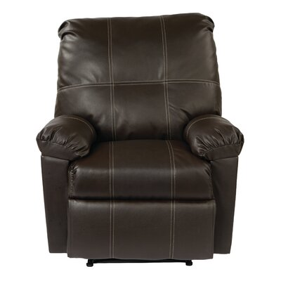 Androscogin Manual Recliner Upholstery: Espresso