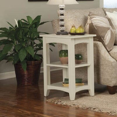 Birch Creek Two Shelf End Table Finish: Sand