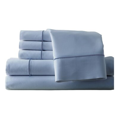 Cunnyngham 1000 Thread Count Sheet Set Color: Sterling Blue/Celestial Blue, Size: King