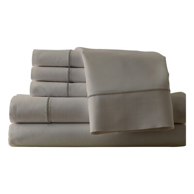Cunnyngham 1000 Thread Count Sheet Set Size: Queen, Color: Oxford/Taupe