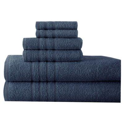 Strafford 6 Piece Towel Set Color: Denim