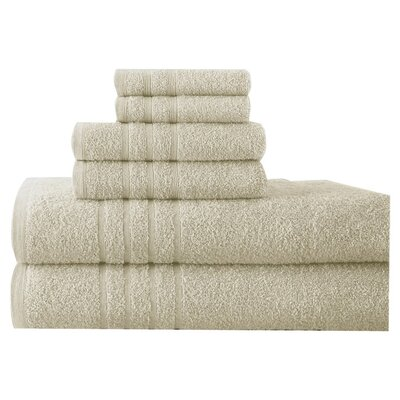 Ridgway 6 Piece Towel Set Color: Ivory