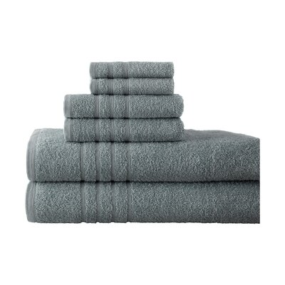 Strafford 6 Piece Towel Set Color: Stone