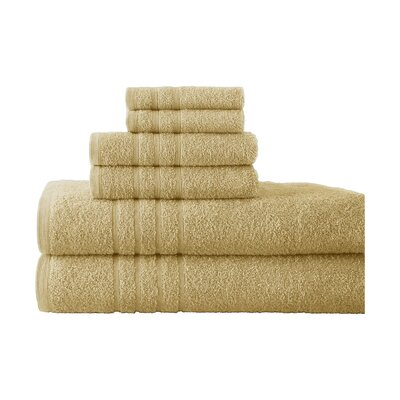 Strafford 6 Piece Towel Set Color: Suede