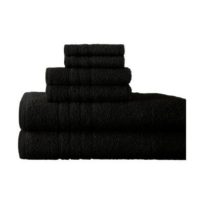 Strafford 6 Piece Towel Set Color: Black